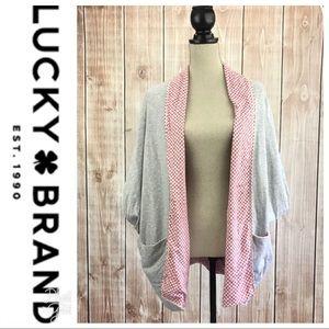 💕SALE💕Lucky Brand Gray Wrap Sweater